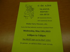 Caz Kids Flower Power May 13th 2015